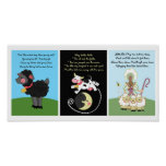 5x7 Black Sheep Diddle Bo Peep Kids Room Wall Art Posters