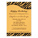 "5x7 Black Tiger Print Birthday Party Invitation 5"" X 7"" Invitation Card"