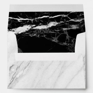 5x7 Black White Marble Stone Texture Envelope