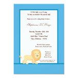"5x7 Blue Lion Baby Shower Invitation 5"" X 7"" Invitation Card"