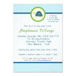 "5x7 Blue Sea Turtles Baby Shower Invitation 5"" X 7"" Invitation Card"