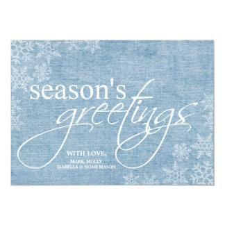 5x7 Blue Snowflakes Christmas Card
