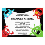 5x7 Boy Little Monsters Birthday Party Invitation