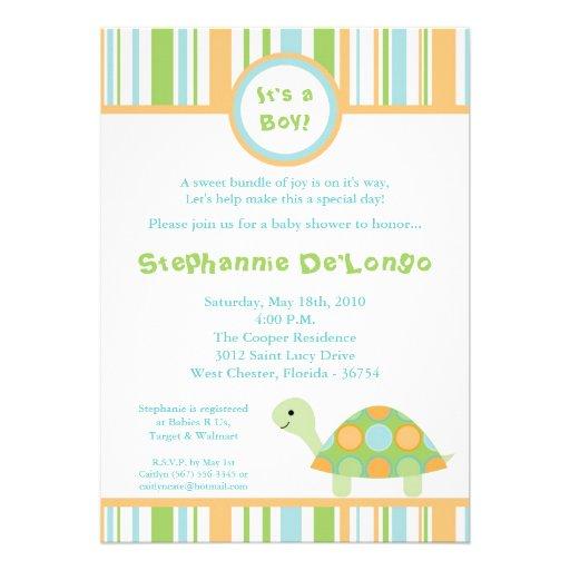 sea turtle baby shower invitation 5 x 7 invitation card zazzle