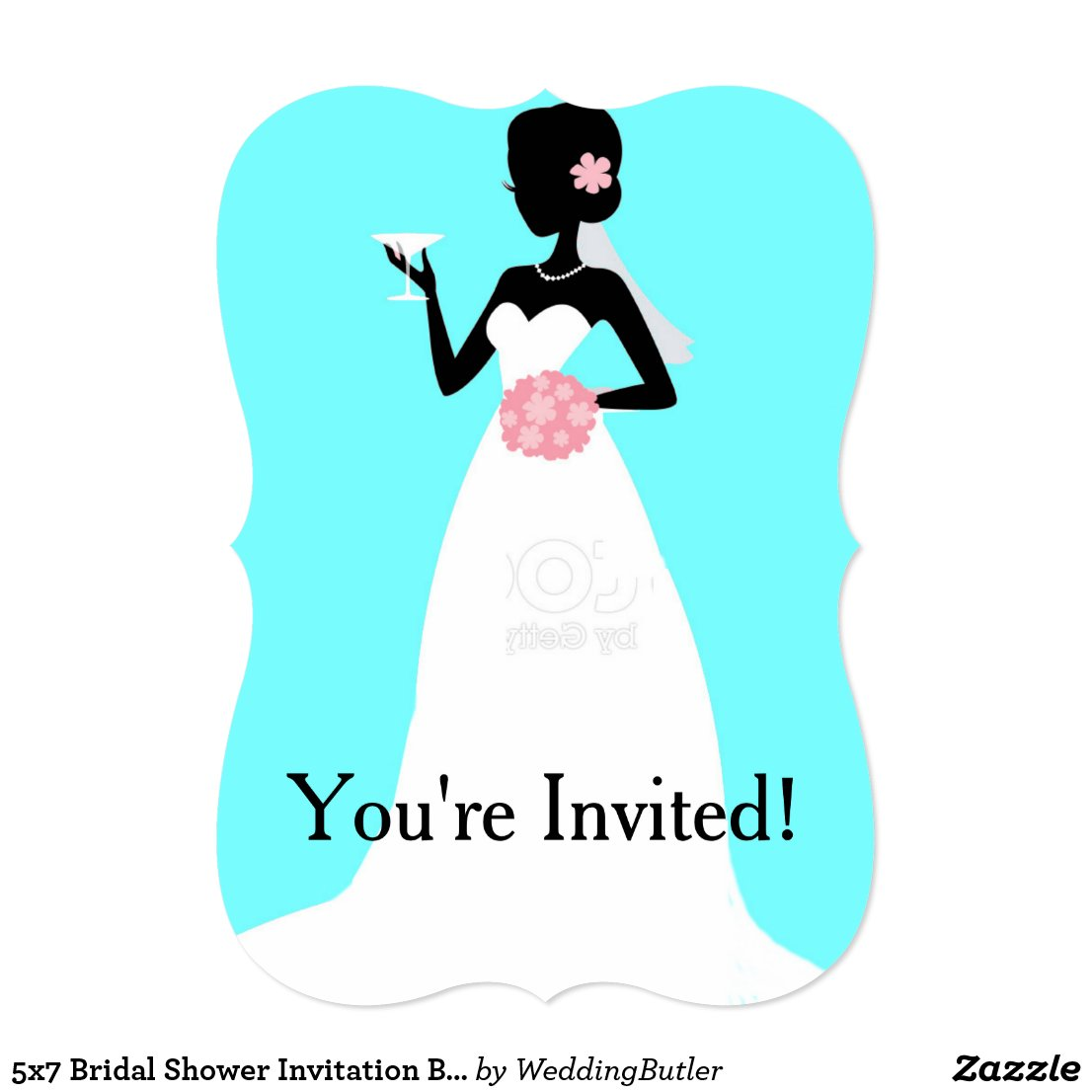 5x7 Bridal Shower Invitation Bracket