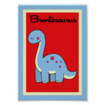 5X7 Brontosaurus Dinosaurs Wall Art Posters