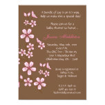 5x7 Brown Cherry Blossom Baby Shower Invitation