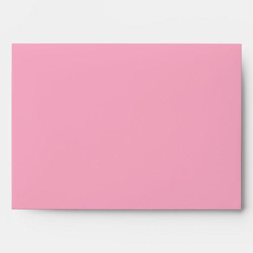 5x7 Brown exterior rosado dentro del sobre
