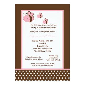 5x7 Brown Honey Bee Baby Shower Card