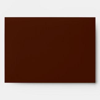 5x7 Brown Outside Polka Dot Inside Envelope