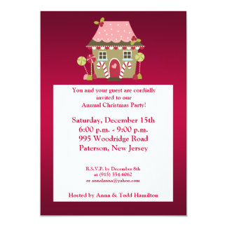 5x7 Candy Land House Invitation