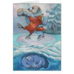 5x7 Card-Bear Fox-While You Lay Sleeping Greeting Card