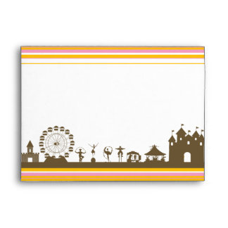 5x7 Carnival with Striped Bars Envelope