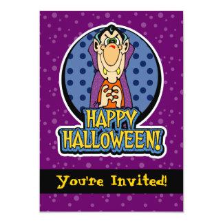 5x7 Cartoon Dracula Vampire Halloween Invitations