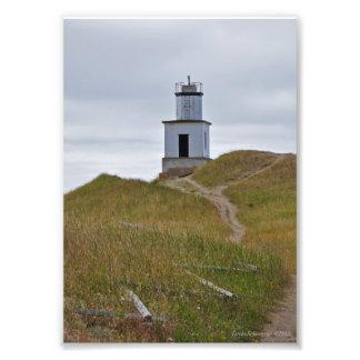 5X7 Cattle Point Lighthouse on San Juan Island, WA Photo Print