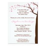 "5x7 Cherry Blossom Tree Baby Shower Invitation 5"" X 7"" Invitation Card"