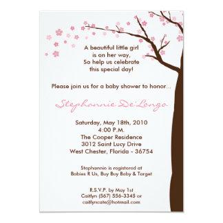 5x7 Cherry Blossom Tree Baby Shower Invitation