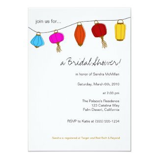 5x7 Chinese Lanterns Invitations