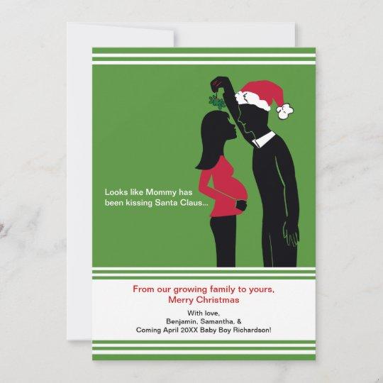5x7 christmas pregnancy announcement cards mommy zazzle com