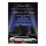 "5x7 City Lights Limo Sweet 16 Birthday Invitation 5"" X 7"" Invitation Card"