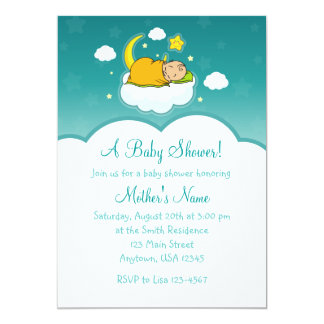 5x7 Cloud Baby Gender Neutral Baby Shower Invites