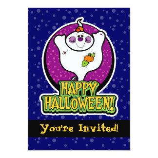 5x7 Cute Cartoon Ghost Halloween Party Invitations