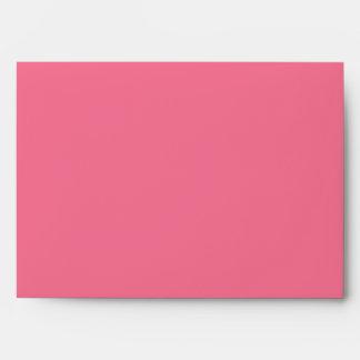 5x7 Dark Pink Outside Light Pink Inside Envelope