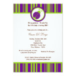 5x7 Dark Purple Lady Bug Birthday Party Invite