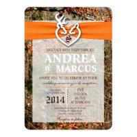 5x7 Deer Couple Doe Buck Camo Wedding Invitation (<em>$2.63</em>)