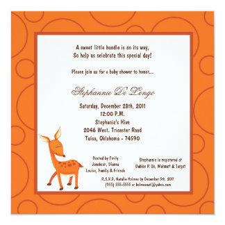 5x7 Deer Pok-a-Dot Baby Shower Card