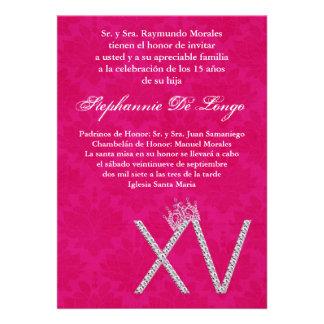 5x7 Diamond Topaz Quinceanera Birthday Invitation