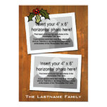 5x7 Double-sided Holiday Photo Card Custom Announcement