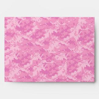 5x7 EJÉRCITO rosado Camo fuera del sobre interior