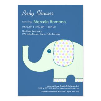 5x7 Elephant Baby Shower Invitations