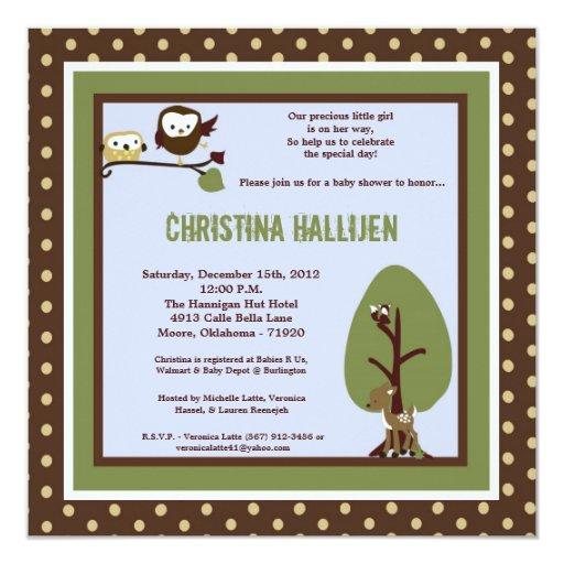 5x7 Enchanted Hollow Baby Shower Invitation