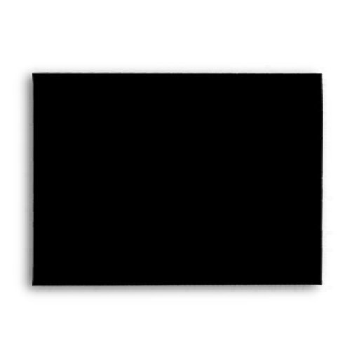 5x7 Envelope Black Outside Crimson Teal Inside