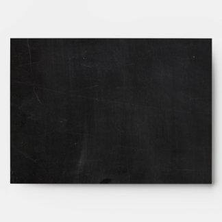 5x7 Envelope Chalkboard Outside White Inside