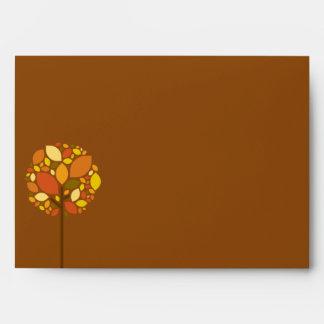 5x7 Envelope Modern Autumn Tree Fall Foliage