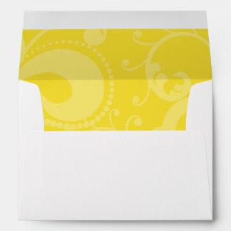 5x7  Envelope Option 1 Hot Pink/Yellow Swirls Dots
