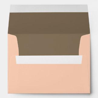 5x7  Envelope Option 1 Light Coral Pink/Brown Swir