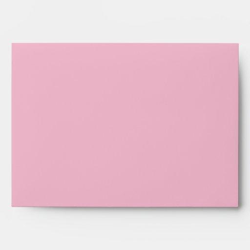 5x7  Envelope Option 1 Raspberry Pink Loops/Swirls