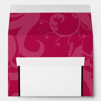 5x7  Envelope Option 2 Hot Pink/Yellow Swirls Dots