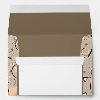 5x7  Envelope Option 2 Light Coral Pink/Brown Swir