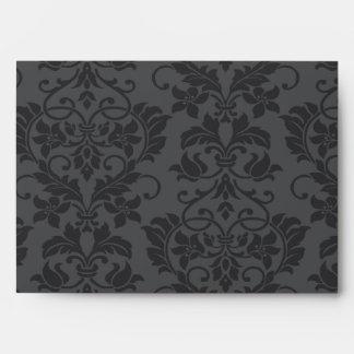 5x7  Envelope Option 3 Black Gray Formal Gothic Pr