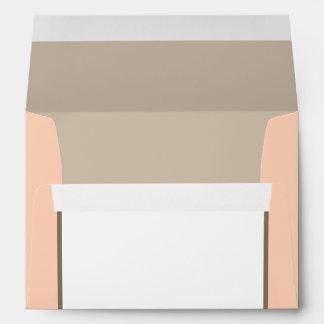 5x7  Envelope Option 3 Light Coral Pink/Brown Swir