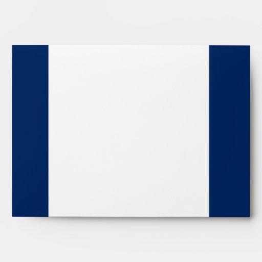 5x7  Envelope Option 3 Paper Plane Blue Swirl Loop