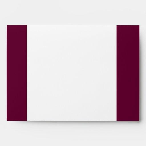 5x7  Envelope Option 3 Paper Plane Purple Loop Pur