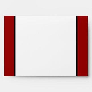5x7  Envelope Option 4 Black Flourish Red Stripe