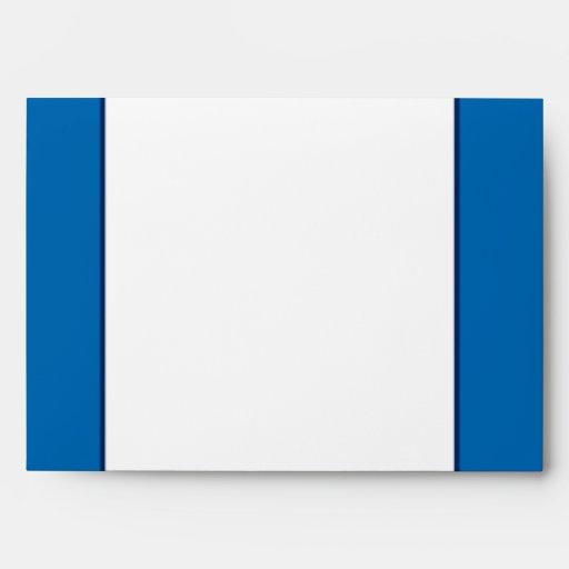 5x7  Envelope Option 4 Paper Plane Blue Swirl Loop