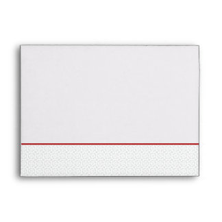 5x7  Envelope Option 5 Gray Red Formal Print